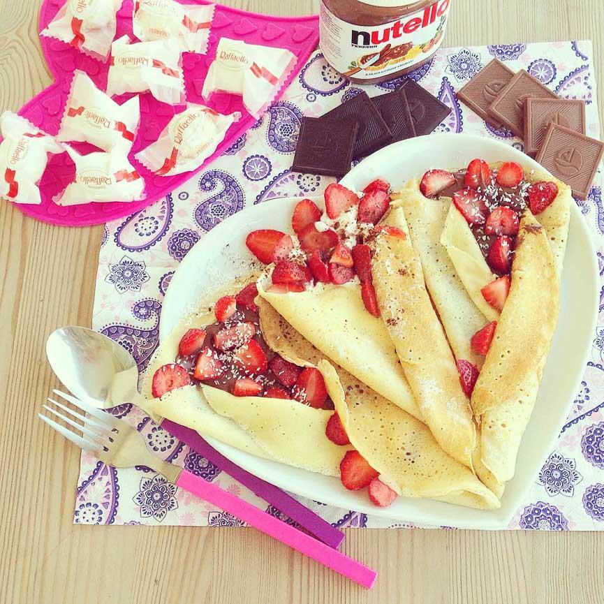 spela horvat nutella chocolate pancakes