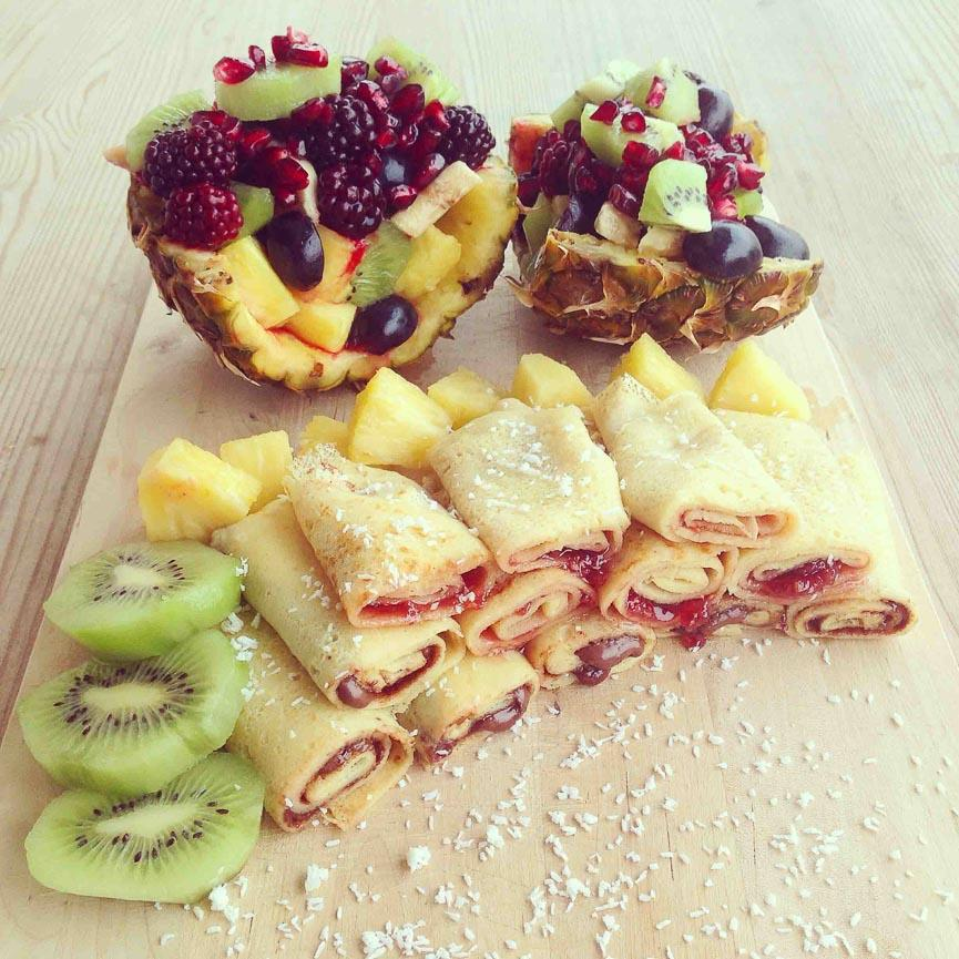spela horvat pancakes fruit