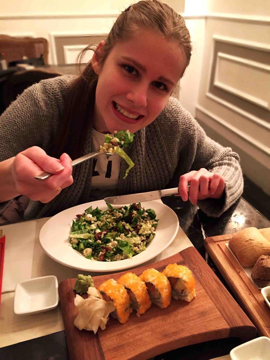 spela horvat food salad vegan